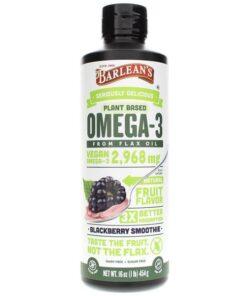 Omega Swirl Blackberry Smoothie from Barlean's Organic Oils