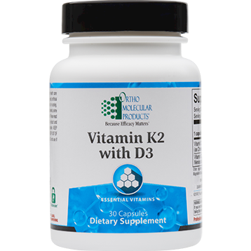 Vitamin K2 with D3, 30 Capsules_OrthoMolecular Products