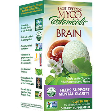 Mycobotanicals, Brain, 60 Capsules by Host Defense